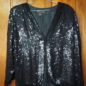 Jean for Joseph Le Bon Beaded Black Womens Jacket
